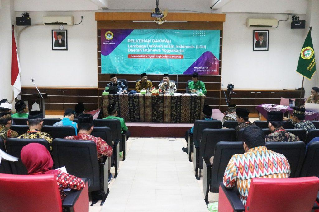 Suasana Pelatihan Dakwah bertemakan Dakwah di Era Digital bagi Generasi Milenial oleh DPW LDII Yogyakarta